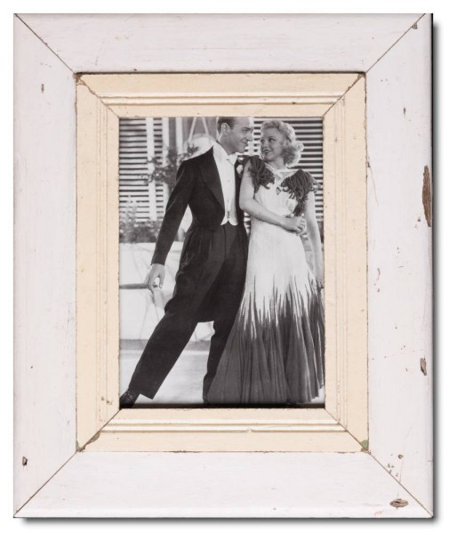 Wide reclaimed wood picture frame for picture size 29,7 x 21 cm