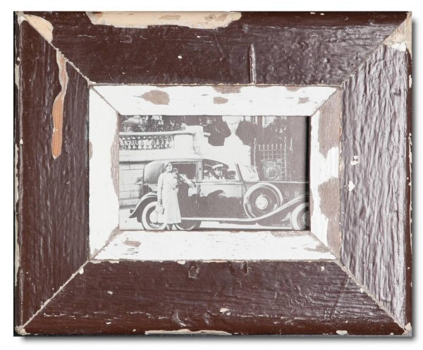 Rustic timber picture frame for picture size 14,8 x 10,5 cm