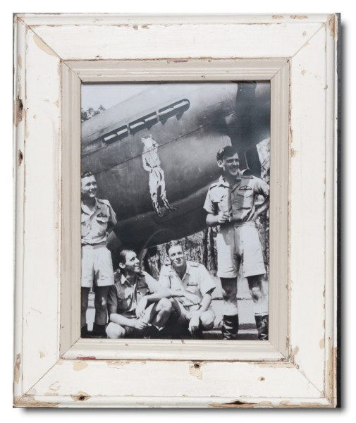 Reclaimed wood photo frame for picture format 29,7 x 21 cm