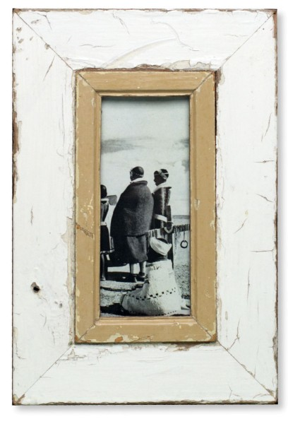 White Vintage Picture Frame - A5 Skinny