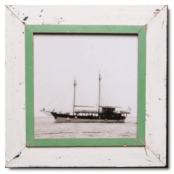 Square rustic timber picture frame for photo format 29,7 x 29,7 cm