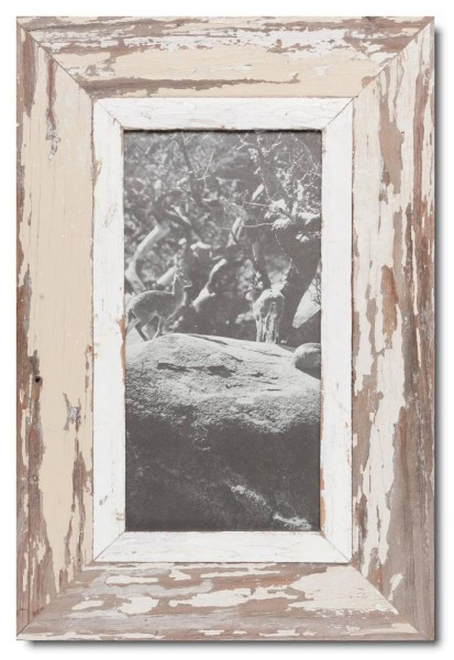 Panoramic distressed wooden frame square for photo format A4 panoramic