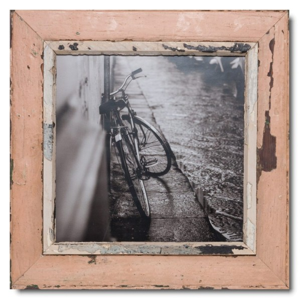 Square rustic timber photo frame for photo size 29,7 x 29,7 cm