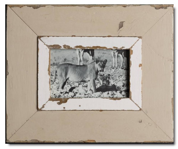 Rustic timber picture frame for photo size A6