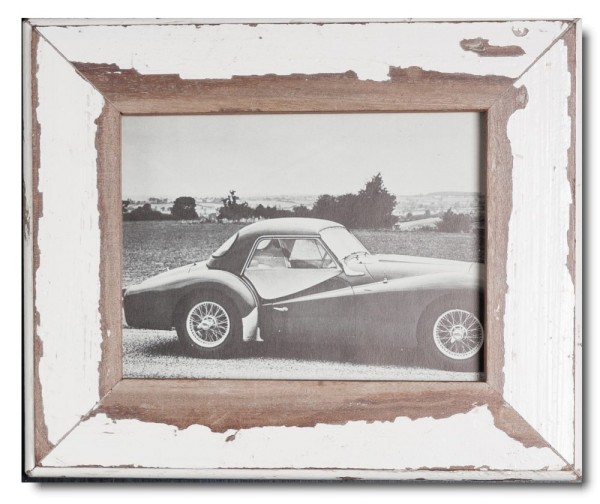 Basic reclaimed wood picture frame for photo format 15 x 20 cm