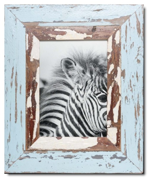 Wide reclaimed wood photo frame for picture format 29,7 x 21 cm