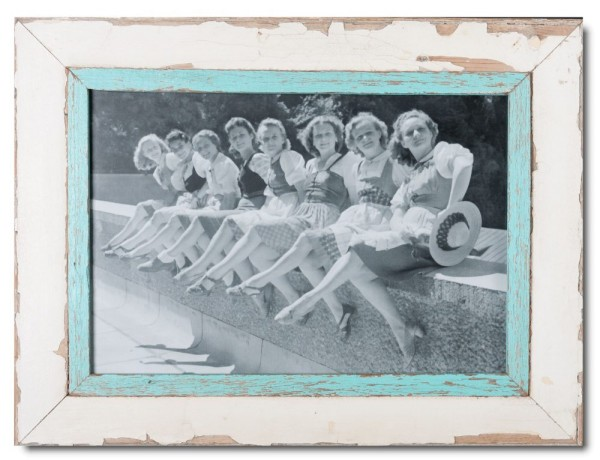 Distressed wooden frame for picture size A3