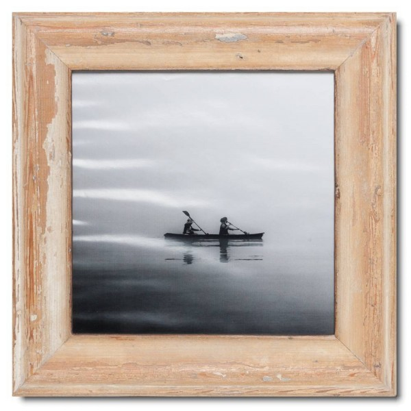 Square distressed wooden picture frame for picture format 29,7 x 29,7 cm