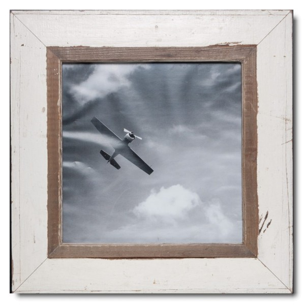 Square rustic timber frame for photo format 29,7 x 29,7 cm
