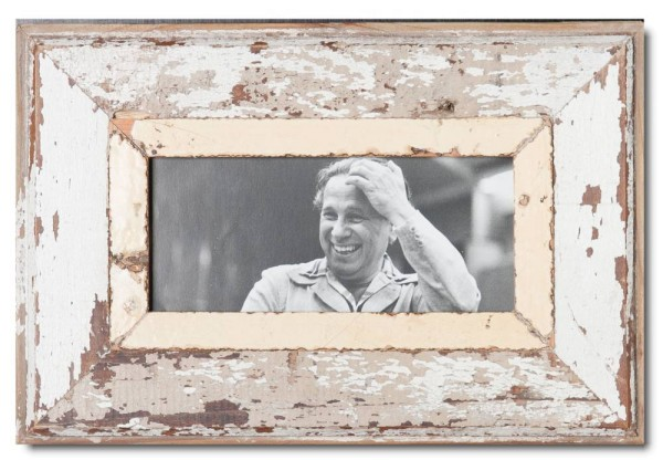 Panoramic reclaimed wood photo frame for picture size A5 panoramic
