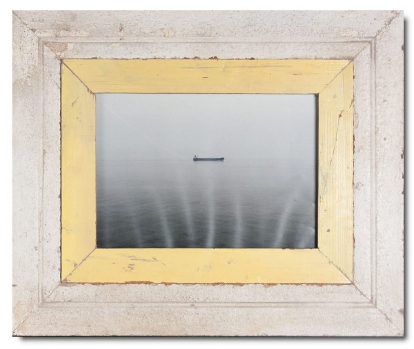 Wide rustic timber photo frame