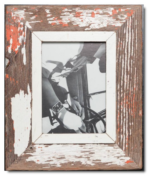 Rustic timber frame for picture format A5