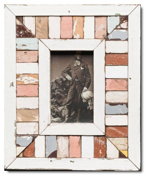 Mosaic distressed wooden picture frame