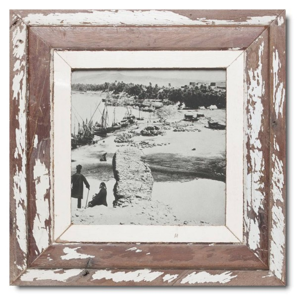 Square distressed wooden frame square for photo size A4 square