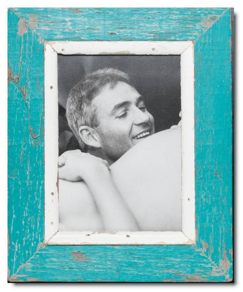 Reclaimed wood photo frame for photo format A4
