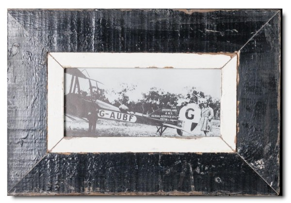 Panoramic Reclaimed wood frame for photo size 2:1