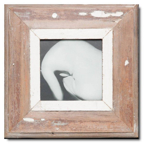 Square rustic timber picture frame for picture size A5 square