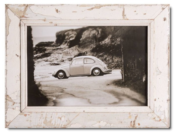 Reclaimed wood picture frame for picture format A3