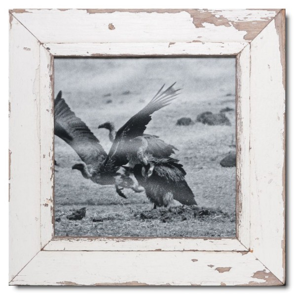 Square reclaimed wood photo frame for picture size A3 square