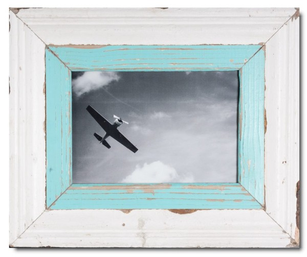 Wide Reclaimed wood frame for picture size A4