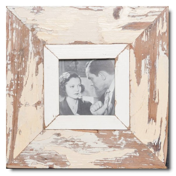 Square rustic timber frame for photo size 10,5 x 10,5 cm