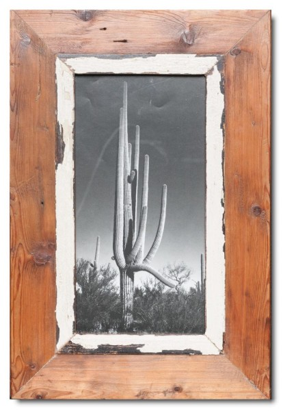 Panoramic distressed wooden picture frame for photo size A4 panoramic