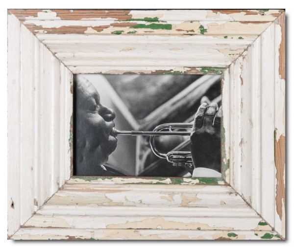 Wide rustic timber photo frame for picture format A5