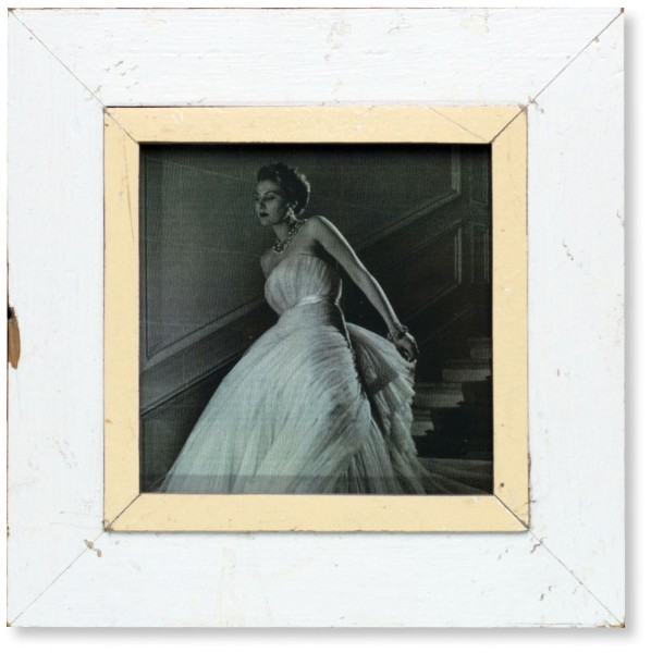 White Vintage Picture Frame - A4 Square
