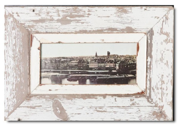 Panoramic distressed wooden frame square for photo size A5 panoramic