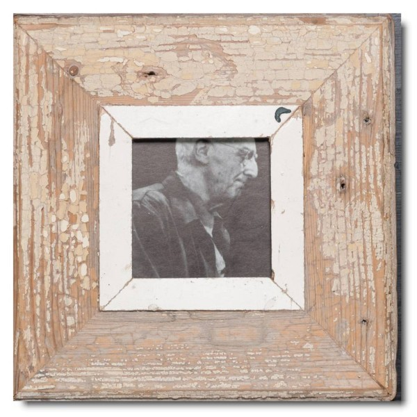 Square rustic timber frame for picture size 10,5 x 10,5 cm