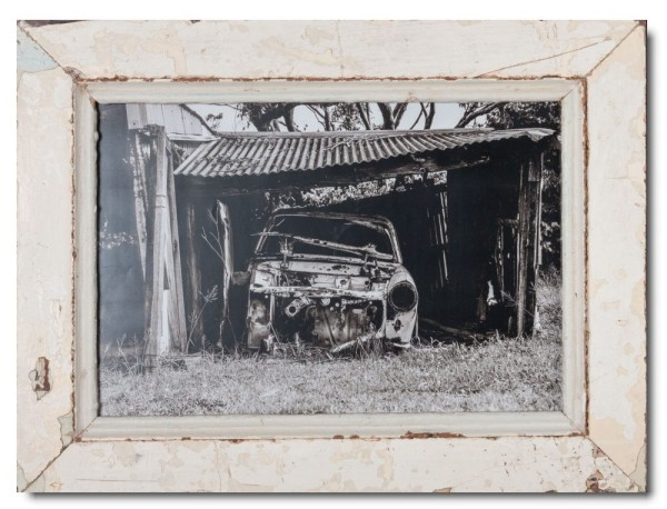 Rustic timber frame for photo format A3