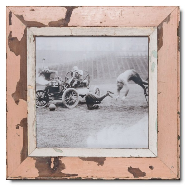 Square Reclaimed wood frame for picture format A3 square