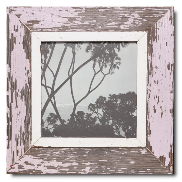 Square rustic timber photo frame