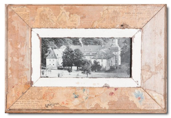 Panoramic Reclaimed wood frame for picture size 2:1
