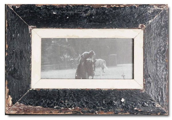 Panoramic rustic timber photo frame for photo format 2:1