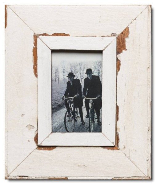 Rustic timber photo frame for photo size 14,8 x 10,5 cm