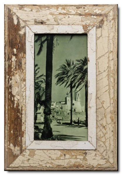 Panoramic rustic timber picture frame for picture format 2:1