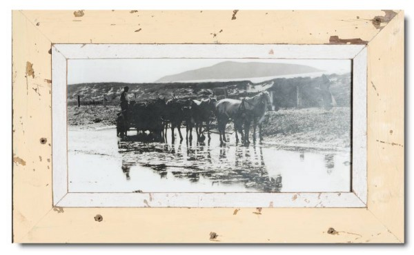 Panoramic rustic timber photo frame for picture size 2:1