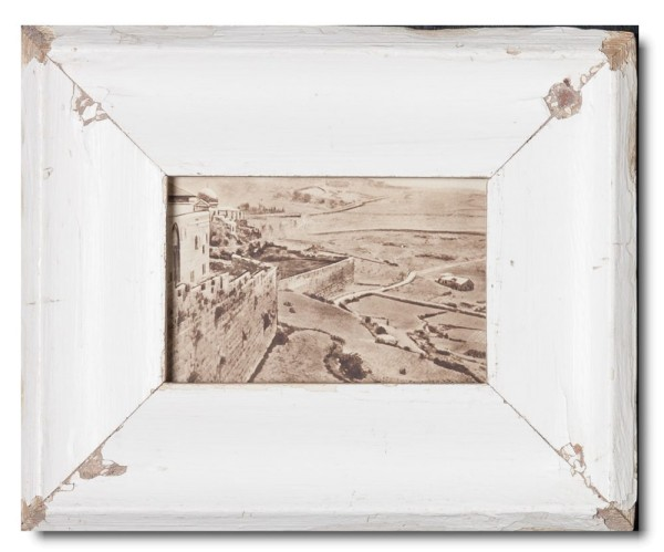 Distressed wooden frame for picture size A6