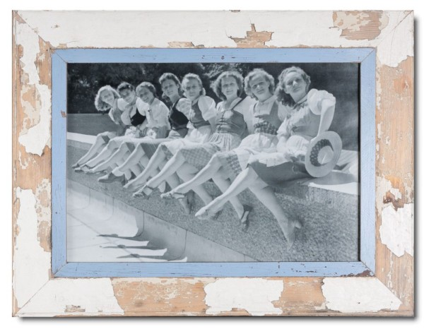 Reclaimed wood photo frame for picture size 42 x 29,7 cm