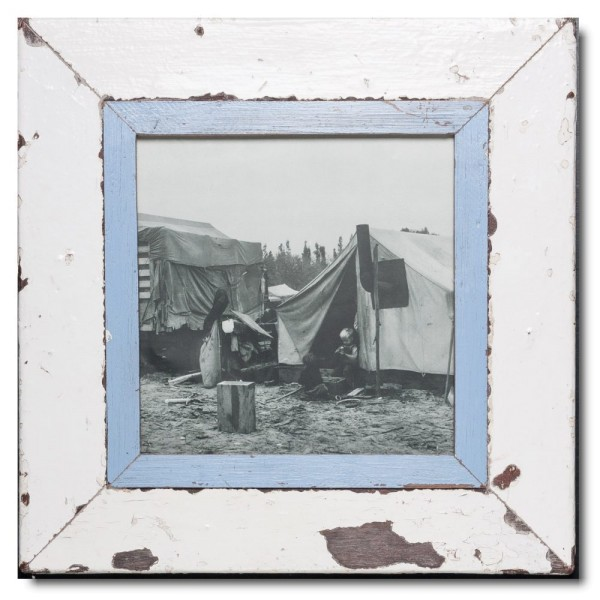Square rustic timber picture frame for picture size 21 x 21 cm