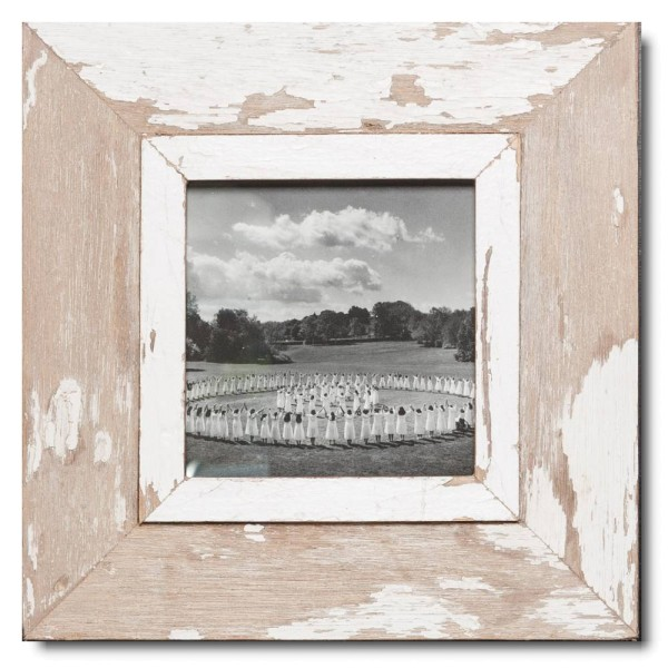 Square reclaimed wood photo frame for photo size A5 square