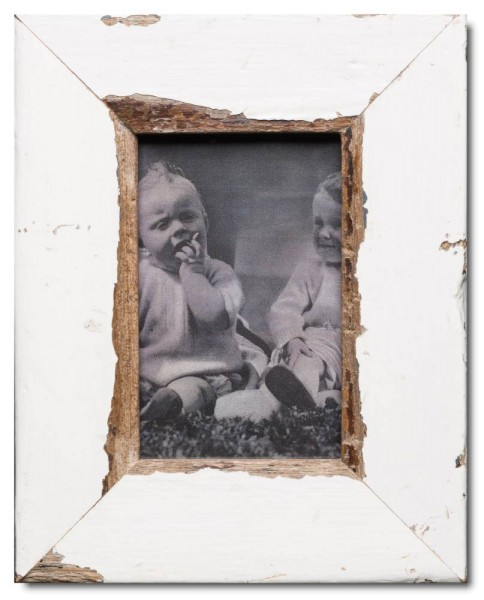 Basic reclaimed wood photo frame for picture format 10 x 15 cm