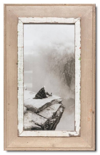 Panoramic rustic timber photo frame for picture format A3 panoramic