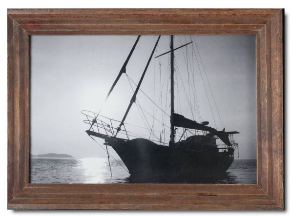 Basic rustic timber photo frame for picture format 25 x 38 cm