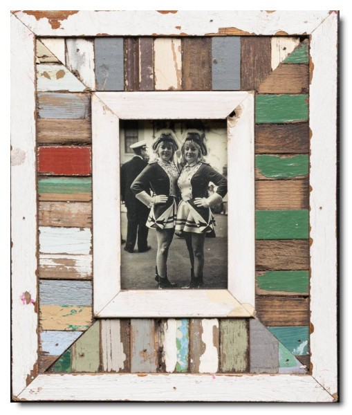 Mosaic rustic timber picture frame