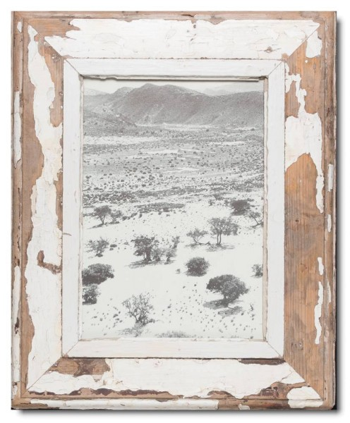 Rustic timber picture frame for picture format 29,7 x 21 cm