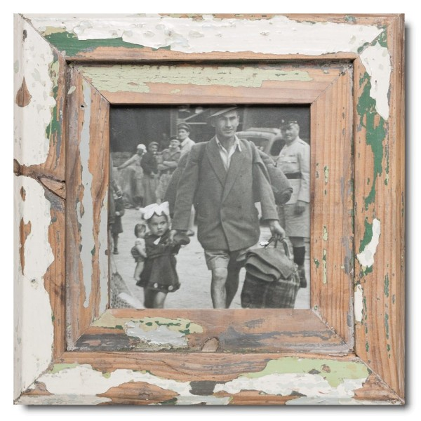 Square Reclaimed wood frame for picture size A5 square