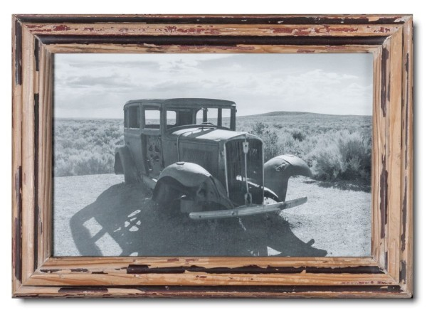 Basic reclaimed wood picture frame for picture format 25 x 38 cm