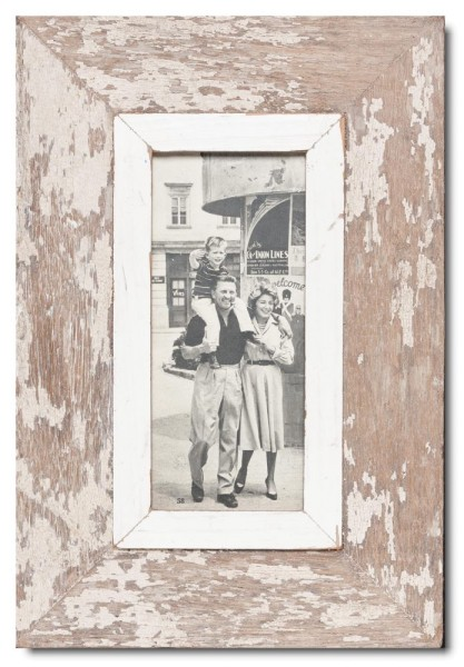 Panoramic distressed wooden frame square for photo format 2:1